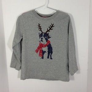 HANNA ANDERSSON Holiday Shirt Dog Reindeer 100  4